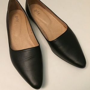 NEW J. Jill black pointed toe leather flats 9.5
